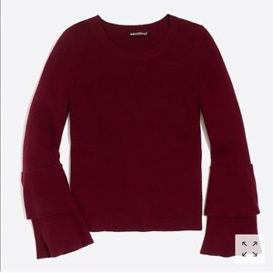 JCrew Tiered Ruffle Sleeve Sweater
